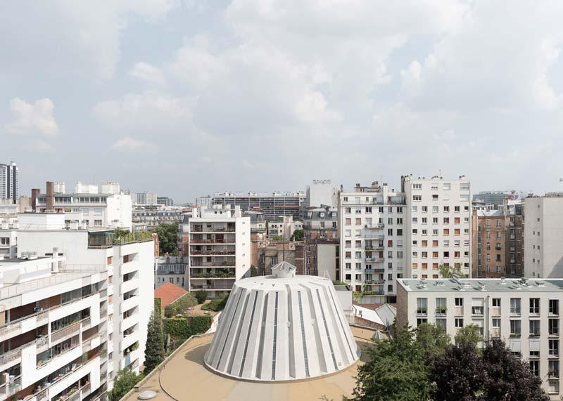 Uitzicht over daken van Parijs