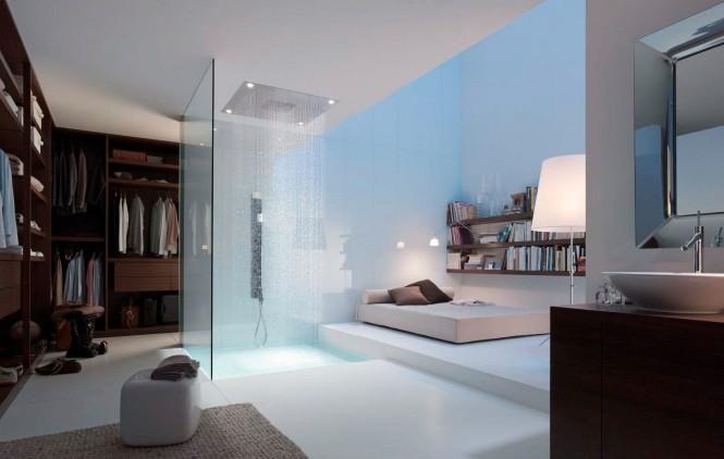 Unieke badkamer in slaapkamer inrichting huis