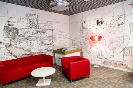 Kantoorinrichting Van Modelina : Unieke muur als blikvanger in je kantoor inrichting huis