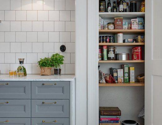 Vaste voorraadkast in de keuken