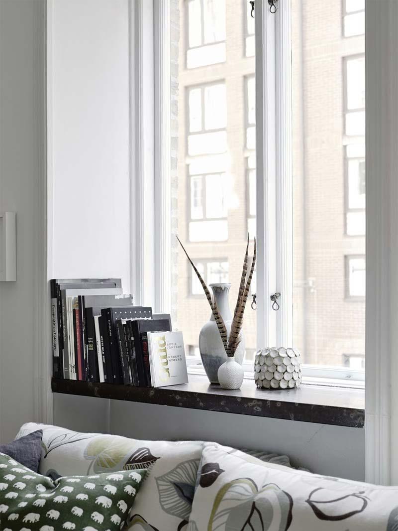 vensterbank decoratie boeken