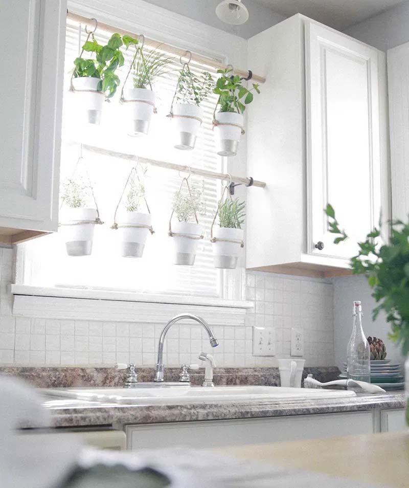 vensterbank keuken verse kruiden