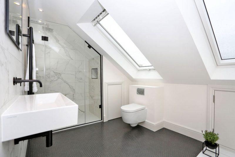 Verbouwde slaapkamer suite op zolder