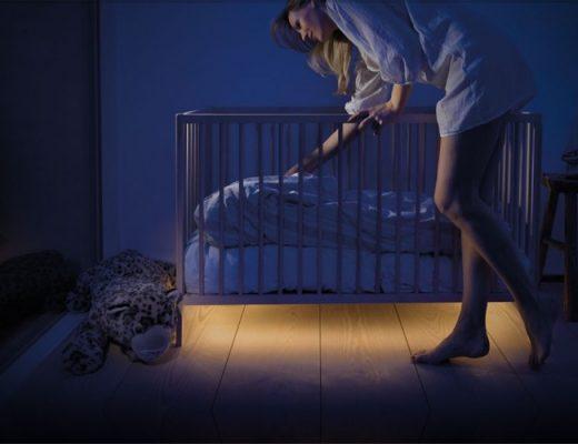 Verlichting onder het bed