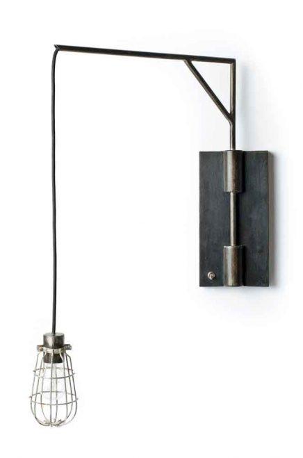 Verstelbare industriele wandlamp