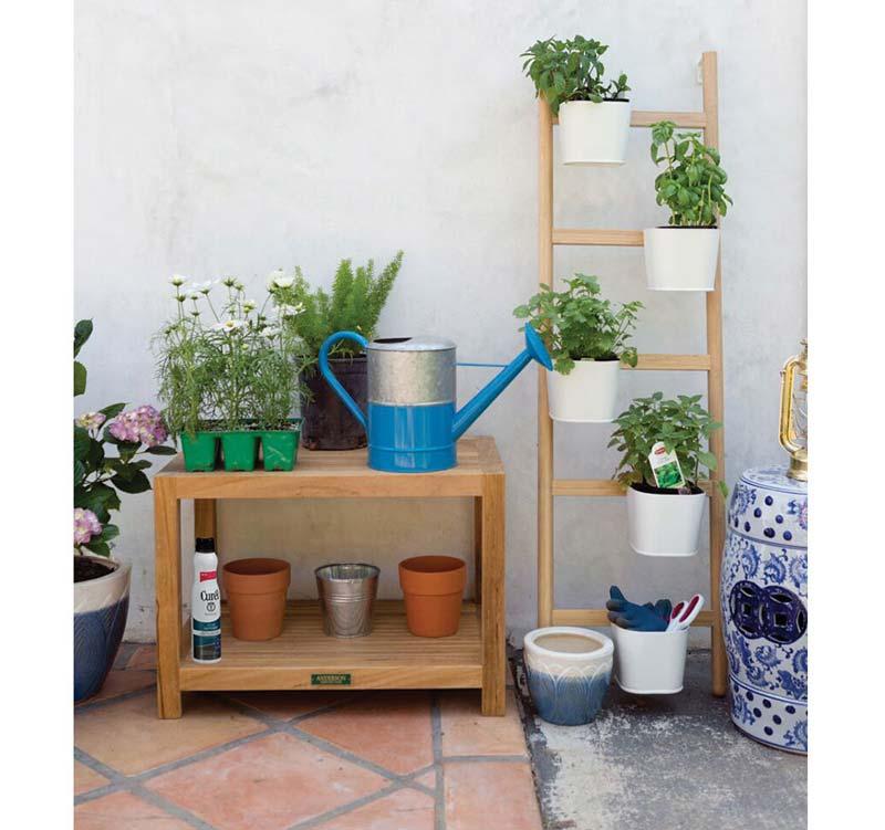 Verticaal tuinieren met een ladder