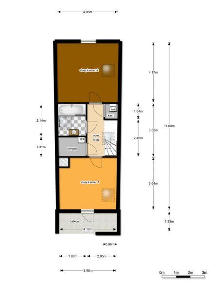 Plattegrond vierde etage