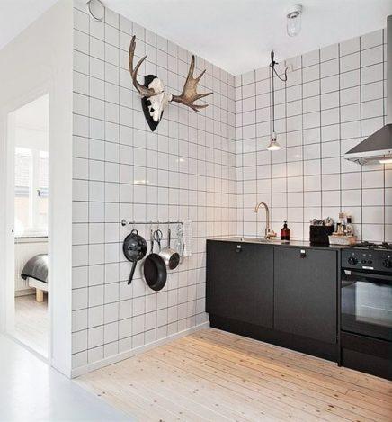 Vierkante witte keuken wandtegels