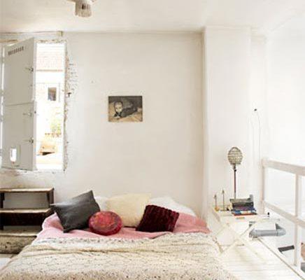 Vintage bohemian slaapkamer