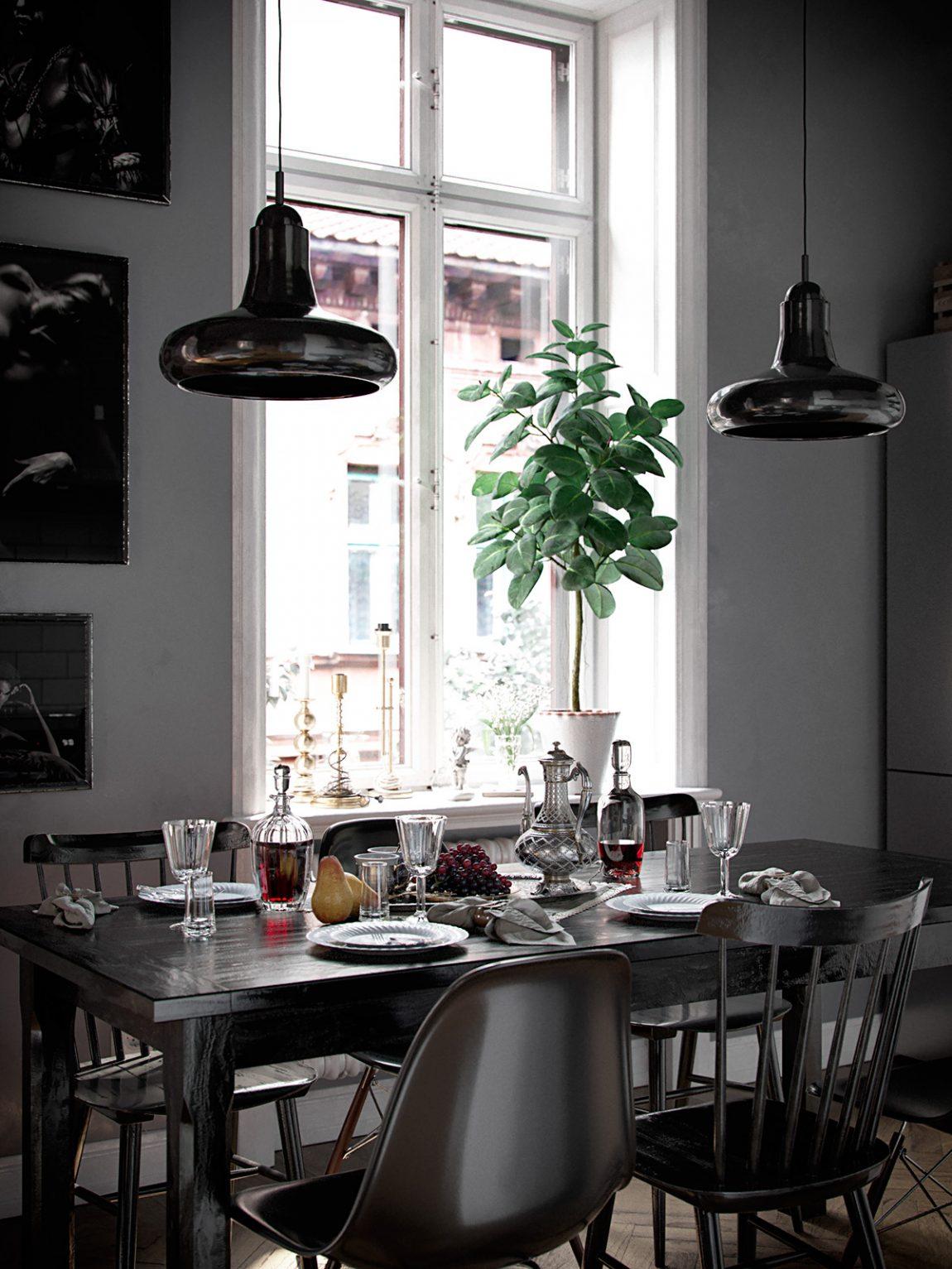 vintage-hanglampen-boven-eettafel