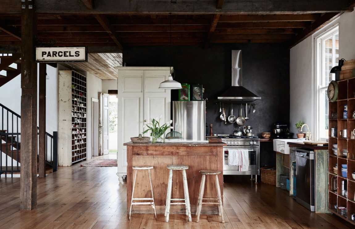 De vintage keuken Anna en Andrew