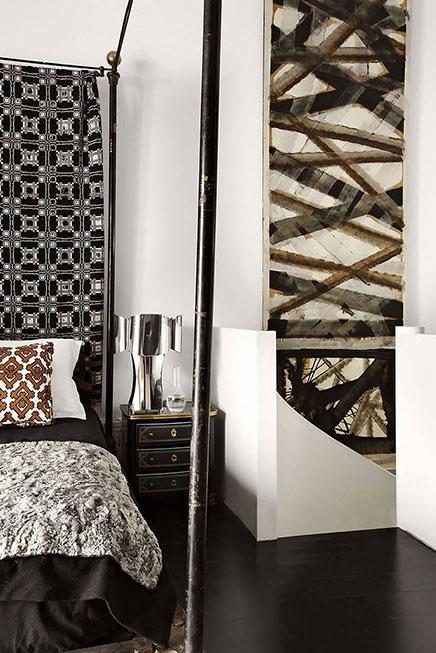 Retro slaapkamer accessoires : Vintage klassieke slaapkamer Inrichting ...