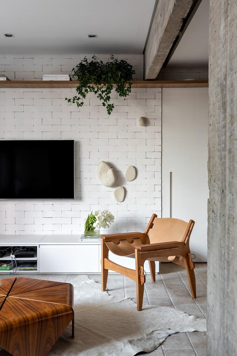 vintage lounge chair industriele woonkamer