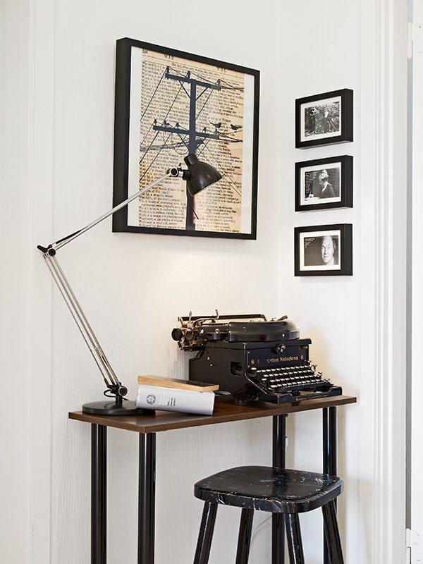 Vintage typemachine als woondecoratie