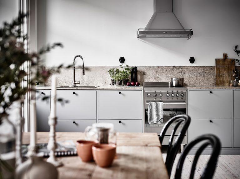 Vintage wandcontactdoos keuken