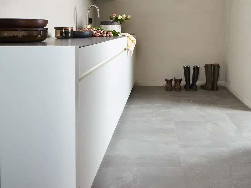 vinyl vloer betonlook BERRYALLOC PURE CLICK 55 STONE URBAN ST LIGHT GREY