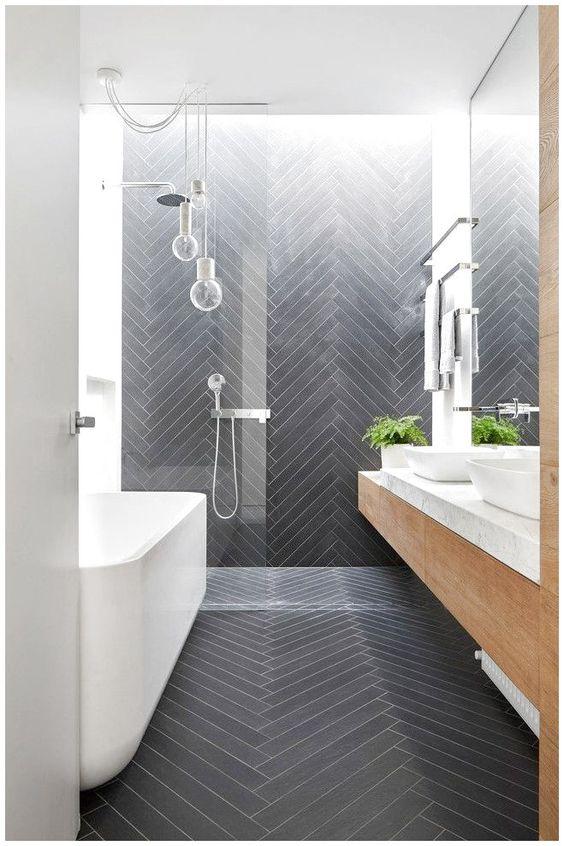visgraat tegels vloer badkamer