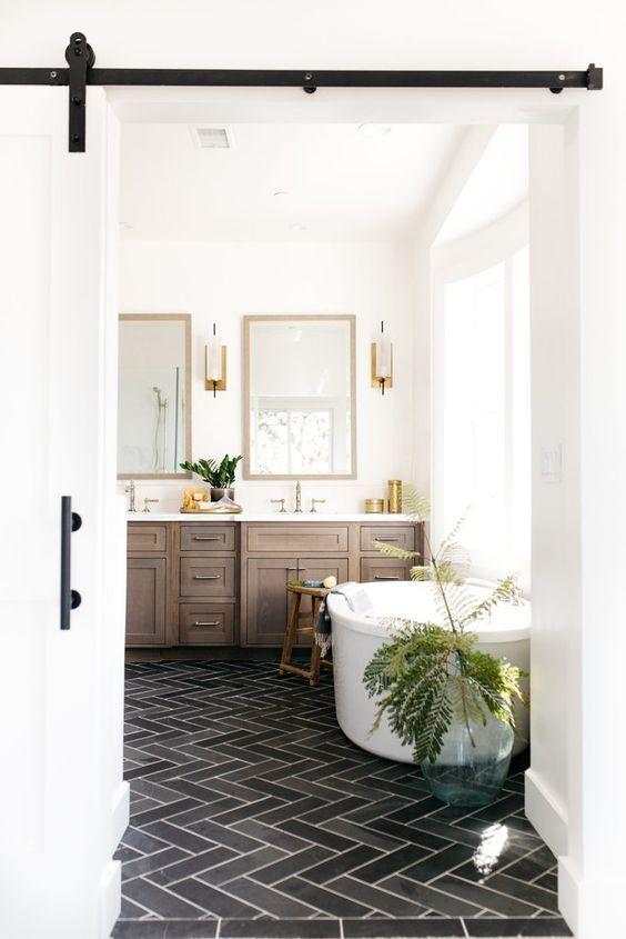 visgraat vloer badkamer