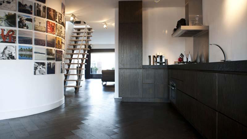 visgraat vloer hout keuken