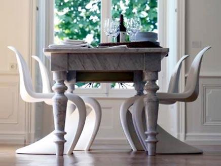 vitra stoelen panton chair inrichting. Black Bedroom Furniture Sets. Home Design Ideas