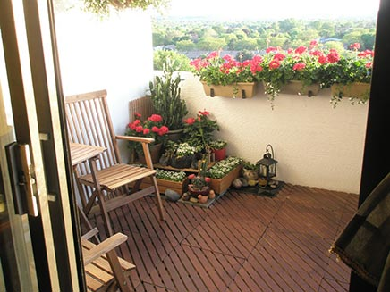 Vlonder op balkon