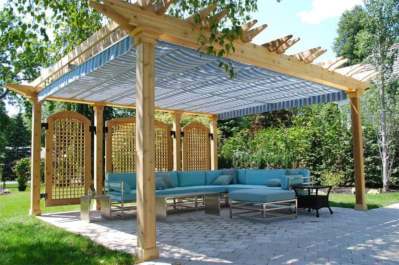 vrijstaande houten tuinoverkapping maken