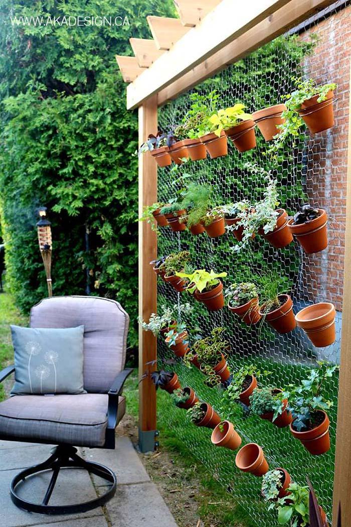 Vrijstaande verticale plantenwand