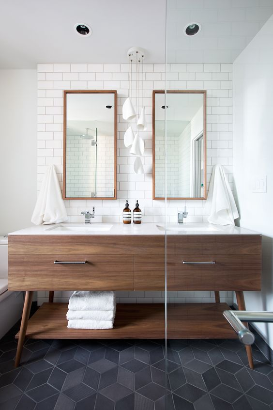 walnoot hout badkamer