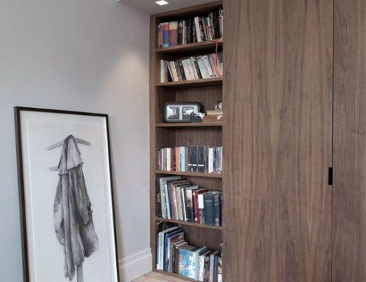 walnoot houten inbouwkast