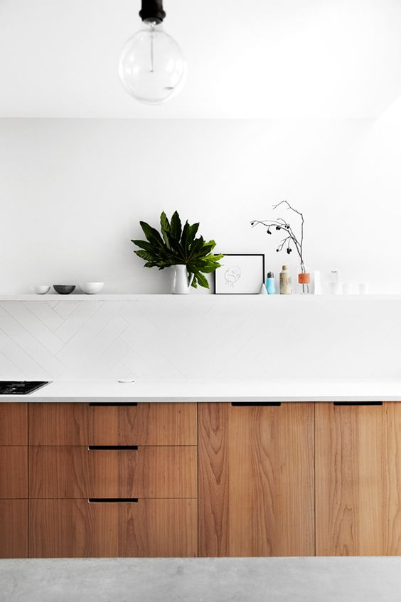 walnoot houten keukenkast