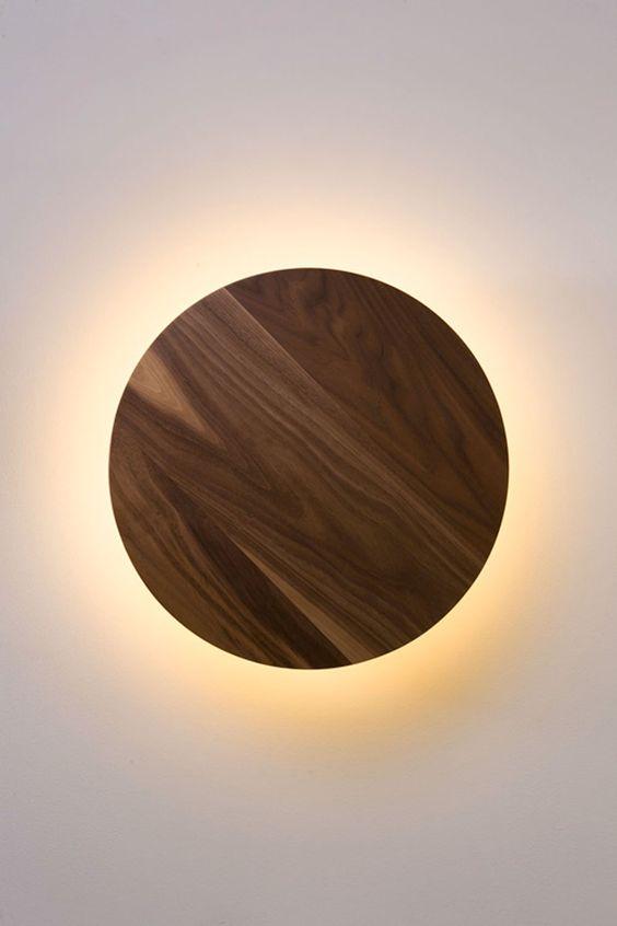 walnoot houten lamp