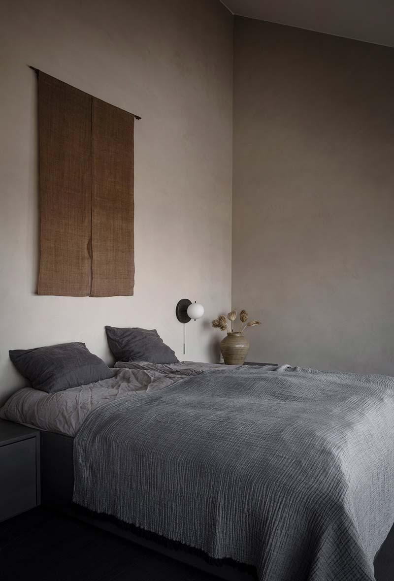 wandkleed boven bed