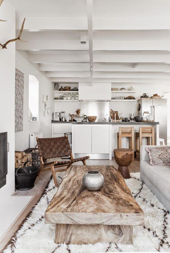 warm interieur met hout