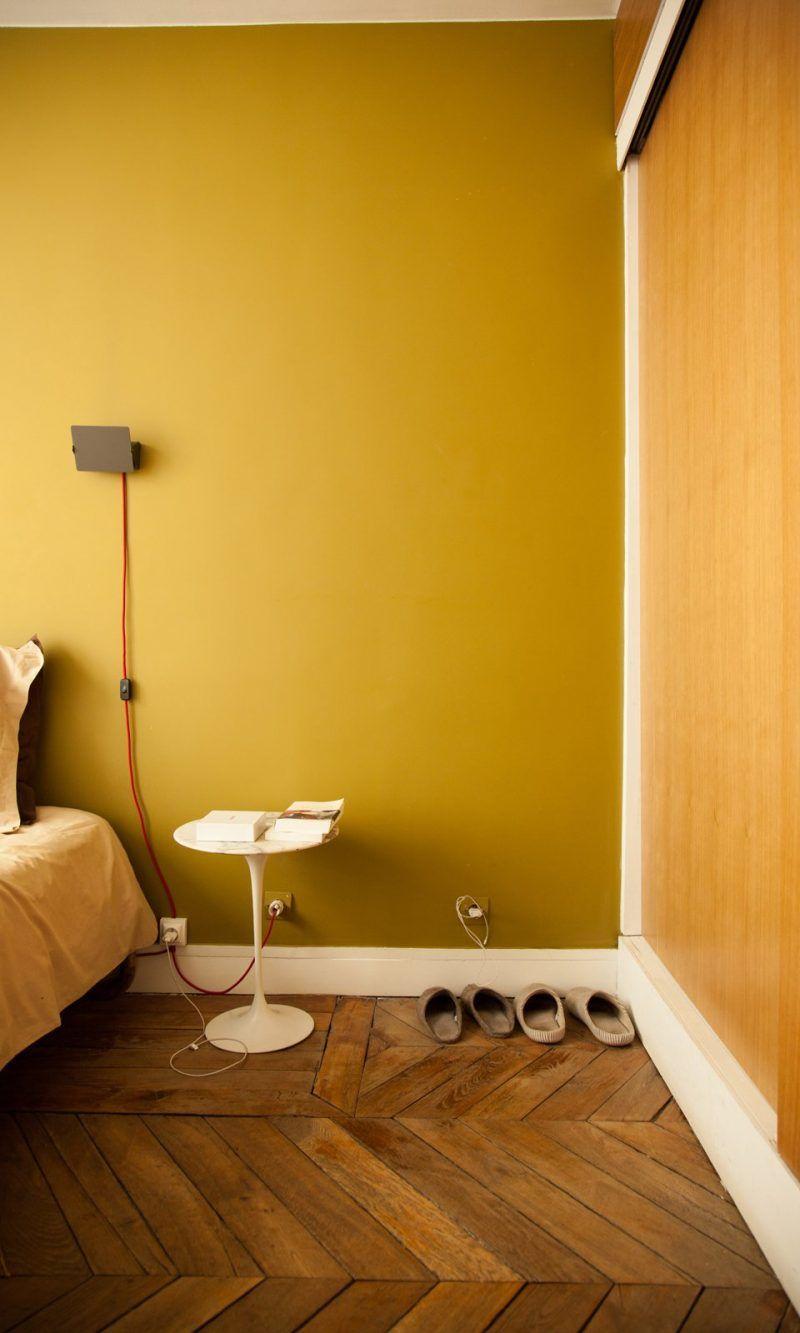 warme muurkleur slaapkamer okergeel