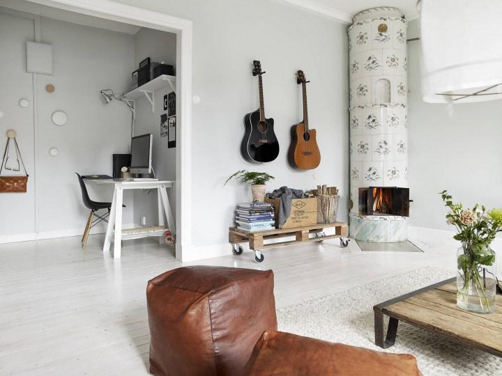 Warme Woonkamer Inrichting : Warme scandinavische woonkamer inrichting huis