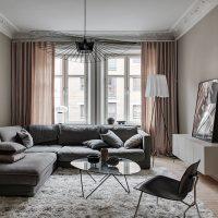 De taupe muren in dit appartement zijn een uitstekende keuze!