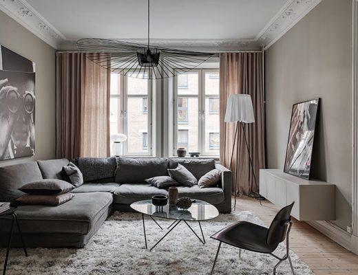 Warme woonkamer kleur