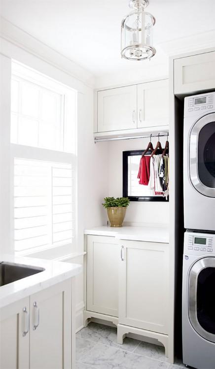 Wasmachine en droger stapelen