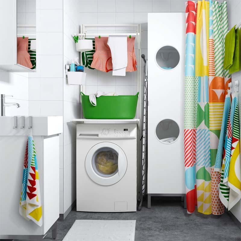 wasmachine kast ikea algot