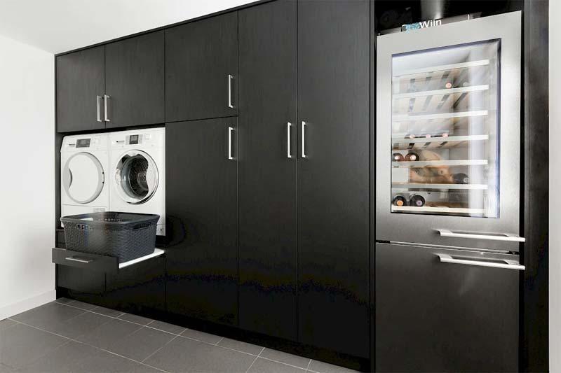 wasmachine kast in bijkeuken