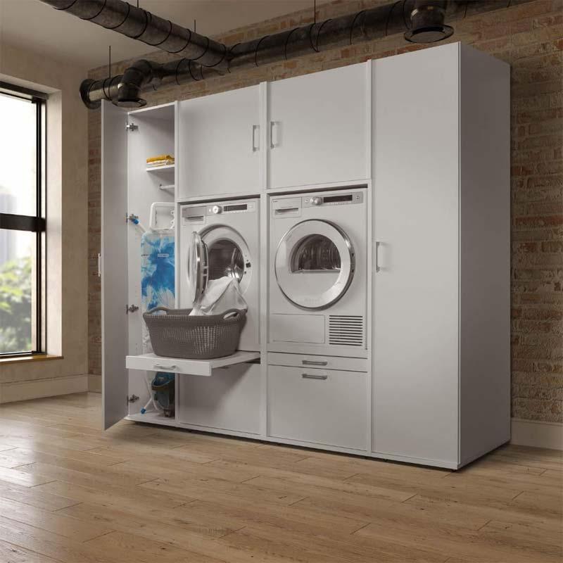 wasmachine kastenwand