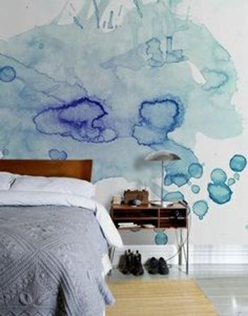 waterverf muur 2