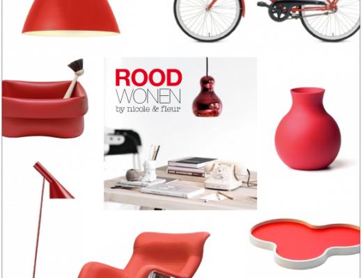 rood wonen met rood design