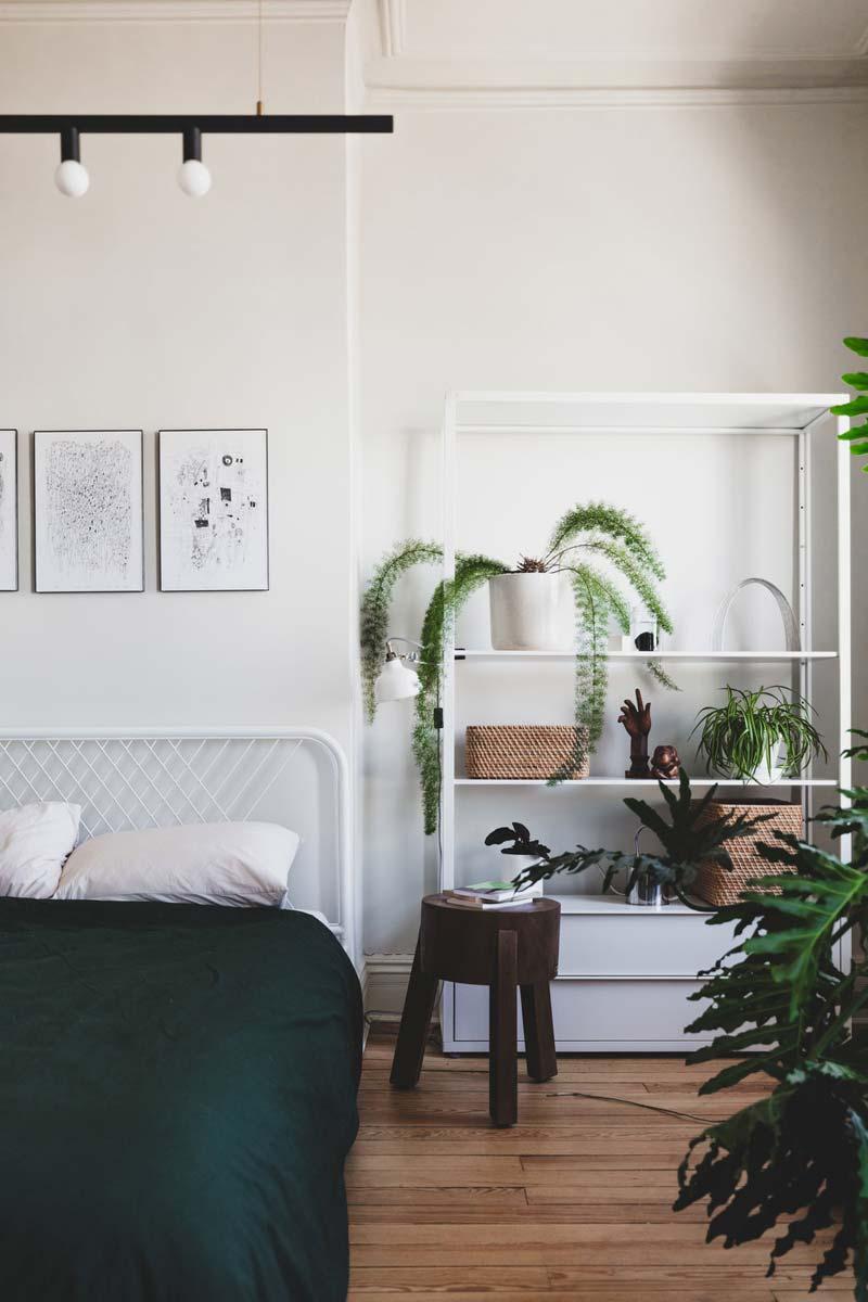 weelderige planten slaapkamer