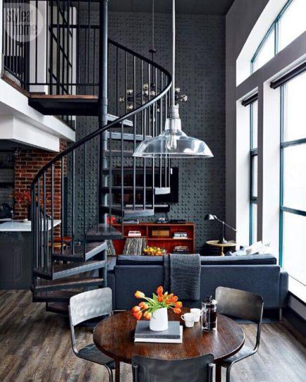 Industrial House Design And Decor For Stylish Appearance: Wenteltrap En Spiltrap Inspiratie