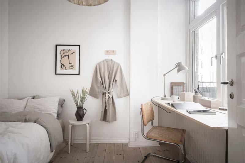 werkplek raam slaapkamer