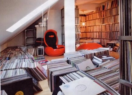 Werkruimte van een DJ