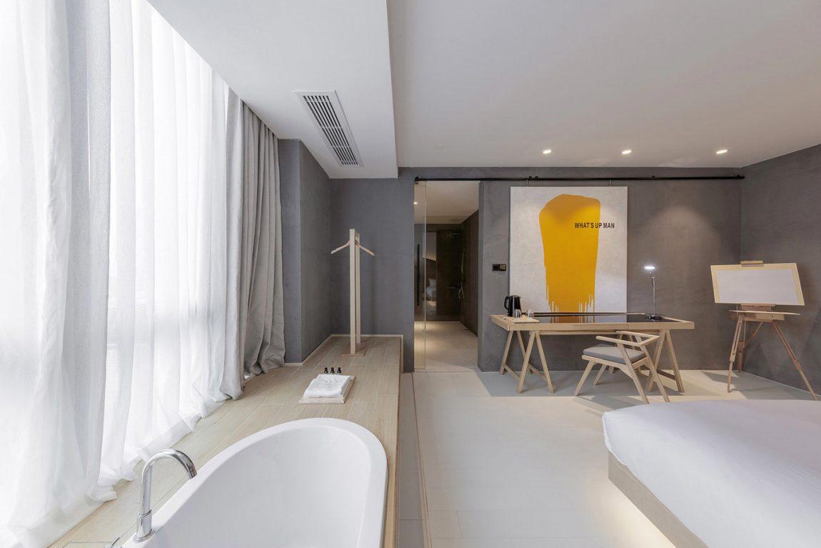 8x Minimalistische Werkplek : Wheat youth arts hotel in hangzhou inrichting huis.com
