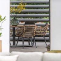 10x Wicker tuinstoelen
