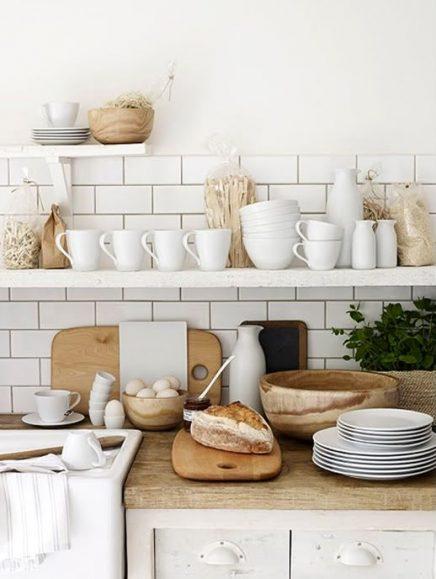 wit en hout in de keuken 9